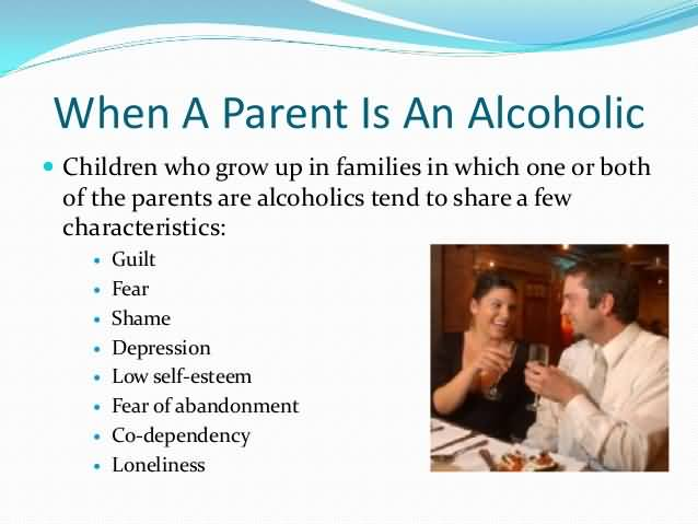 the characteristics of alcoholism Alcoholism is a disease that can run in the family interestingly enough, researchers are finding that there are commonalities among children of alcoholics.