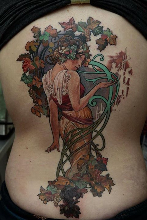 Amazing Colorful Tattoo On Side With Colorful Ink For Man Woman