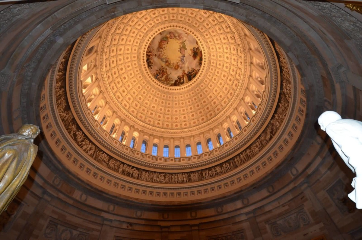 Amazing Dome In United States Capitol For Wallpaper