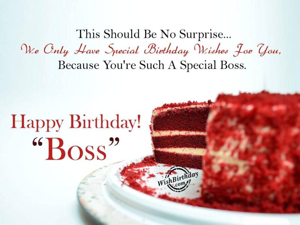 Boss Birthday Wishes