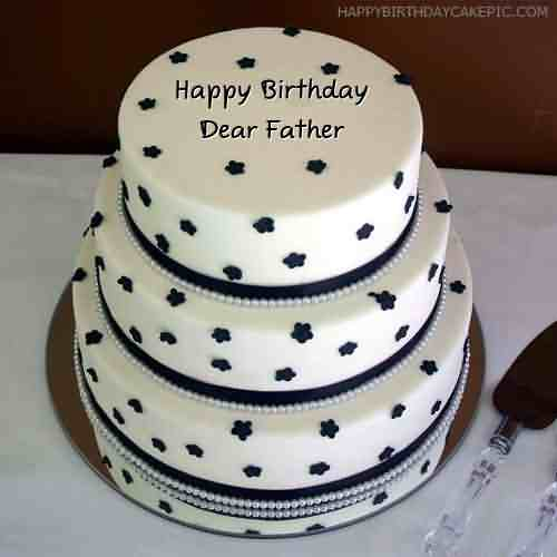 Awesome Three Story Cake Birthday Wishes To Father Image