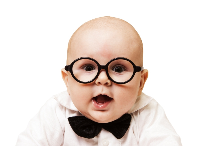 Baby's Cute Reaction To Glasses