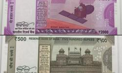 Back Side View Of 2000and 500 Notes Of New Indian