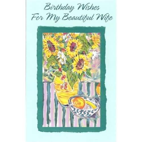 Beautiful Birthday Card For Wife
