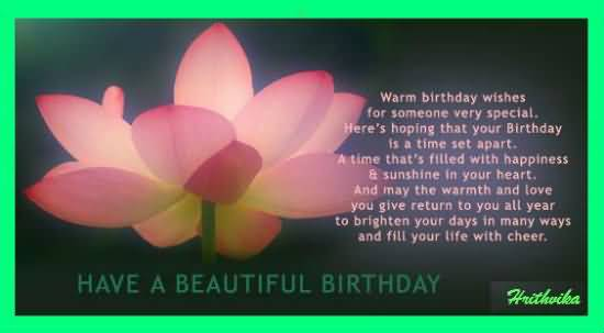 Beautiful Birthday Wishes And Poem To Someone Special