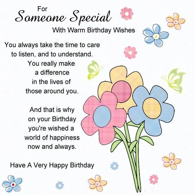 Beautiful Birthday Wishes Image For Someone Special