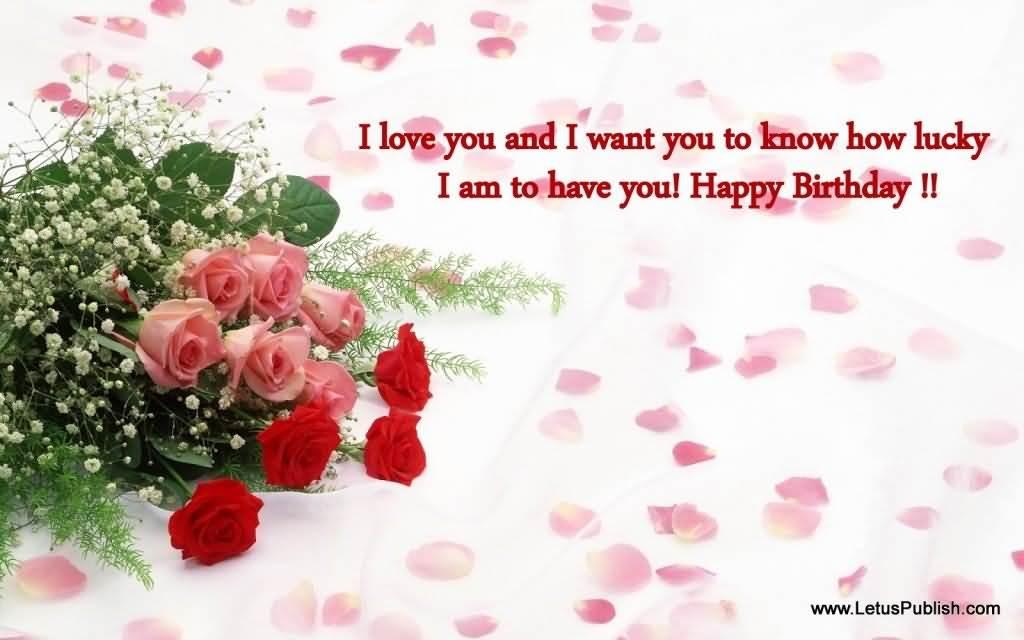 Beautiful Flower Birthday Greeting For Love Image
