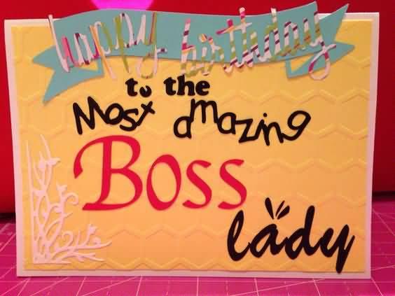 Beautiful Lady Boss Birthday Greeting Card Idea