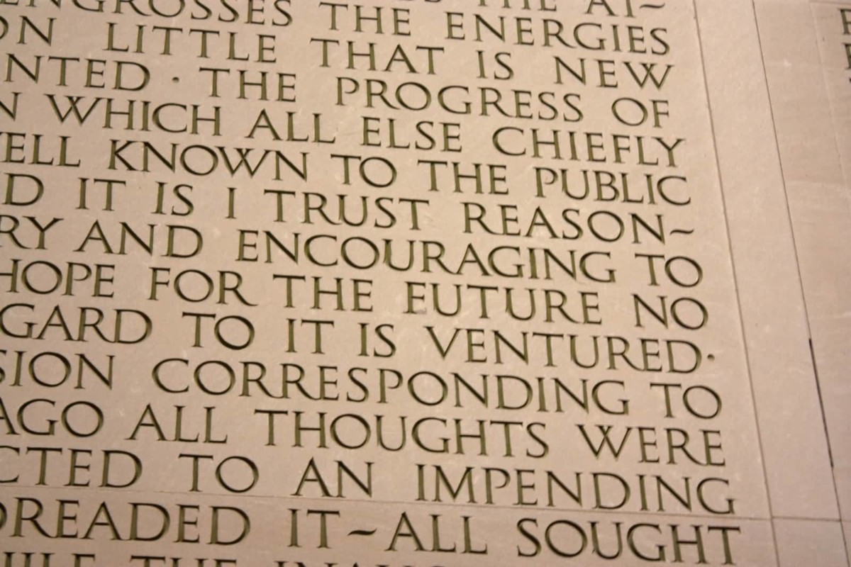 Beautiful Quotes Written On The North Fabulous Wall Inside The Lincoln Memorial