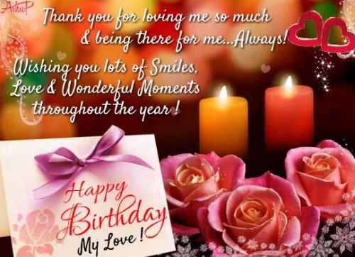 Birthday Wishes Message To My Lover