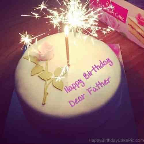 Celebrate Father Birthday Wishes Cake Image