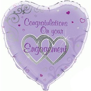 Congratulations On Your Engagement Heart Greeting