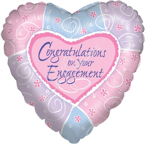 Congratulations On Your Engagement Heart Image
