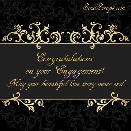 Congratulations On Your Engagement May Your Beautiful Love Card