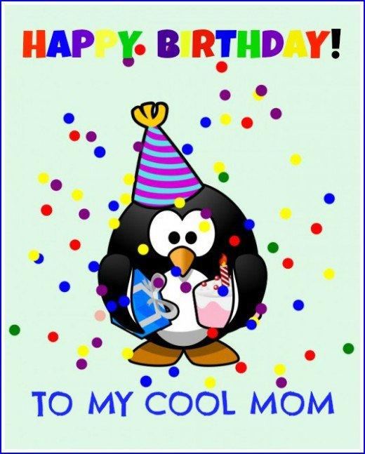 Cool Mom Happy Birthday Wishes Image