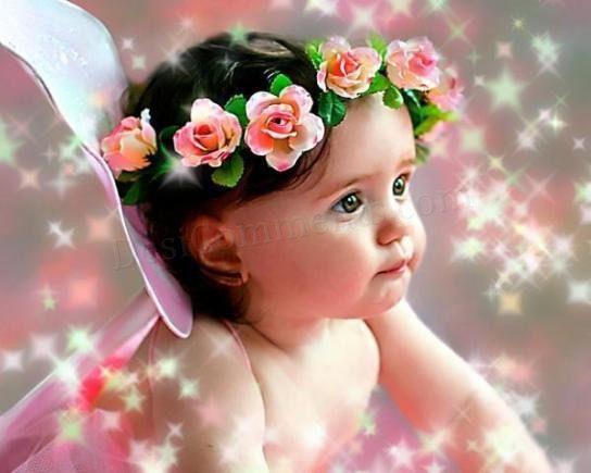 Cute Little Baby Angel Wallpaper
