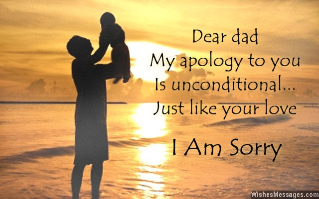 Dear Dad My Apology I'm Sorry Quotes Image