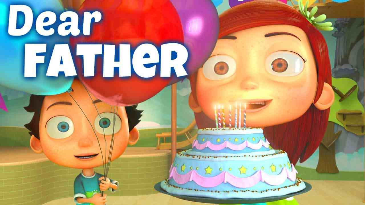 Dear Father Happy Birthday Greeting Image