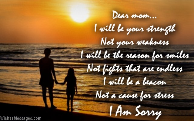 Dear Mom I Am Sorry Greeting Picture