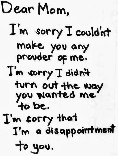 Dear Mom I'm Sorry Quotes Image