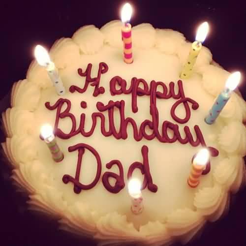 Delicious Dad Birthday Cake Image