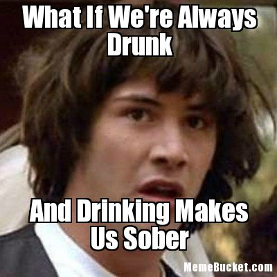 Drunk Meme What If Were Always Drunk And Drinking Makes Us Sober