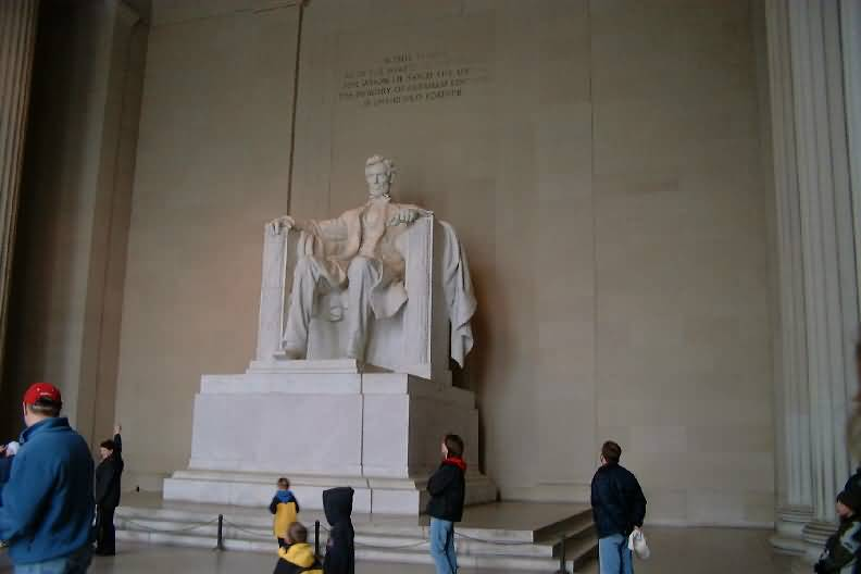 Fantastic Photo Of Statue Of Abraham Lincoln In The Lincoln Memorial