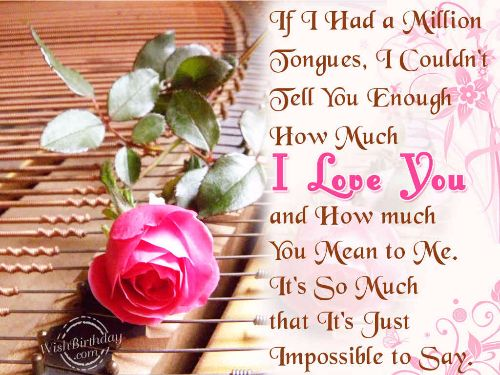 Fabulous Happy Birthday Quotes For Lover Greetings