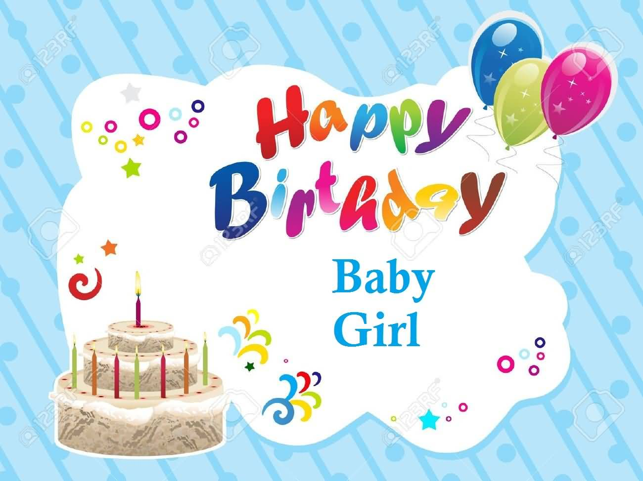 33 Cute Baby Girl Birthday Wishes Picture Image Wallpaper Picsmine