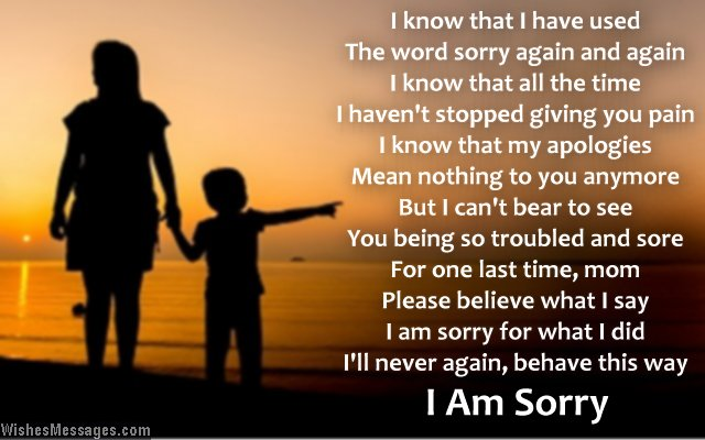From Son I Am Sorry Mom Quotes Image