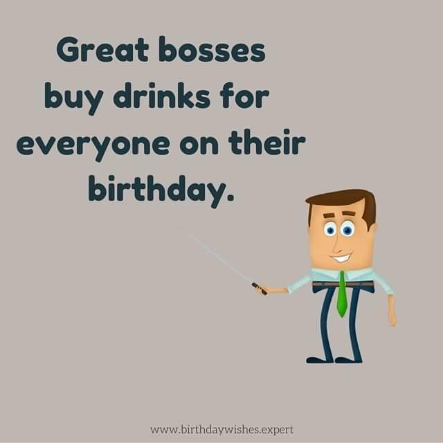 Funny Boss Birthday Greeting Image
