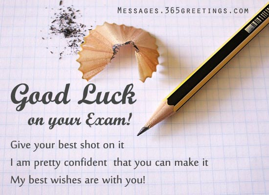 Good Luck On Your Exam Give Your Best Shot On It Image