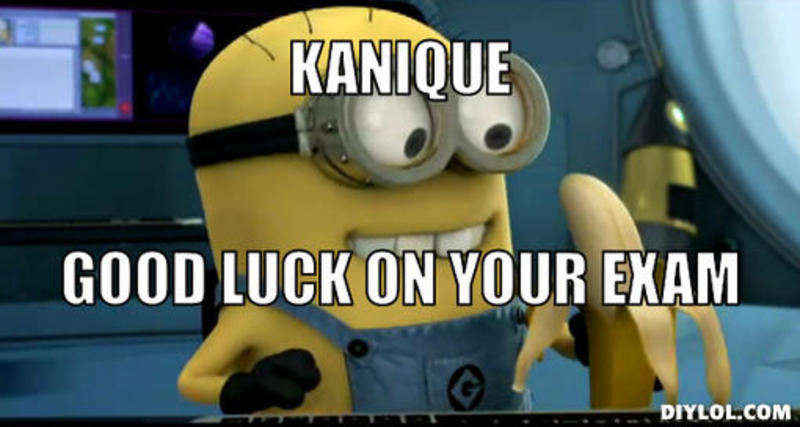 Good Luck On Your Exam Minion Meme