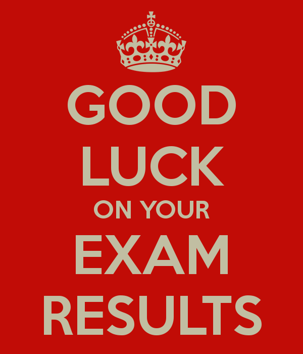 Good Luck On Your Exam Results Picture