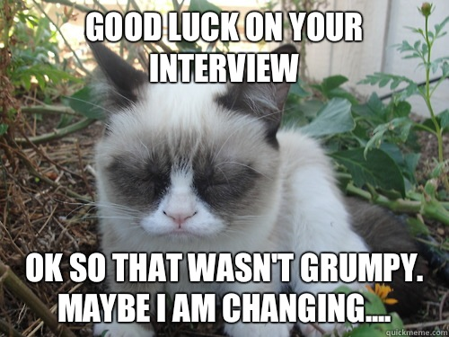 Good Luck On Your Interview Meme