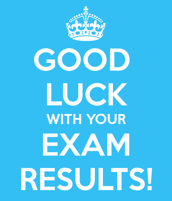 Good Luck With Your Exam Results Image