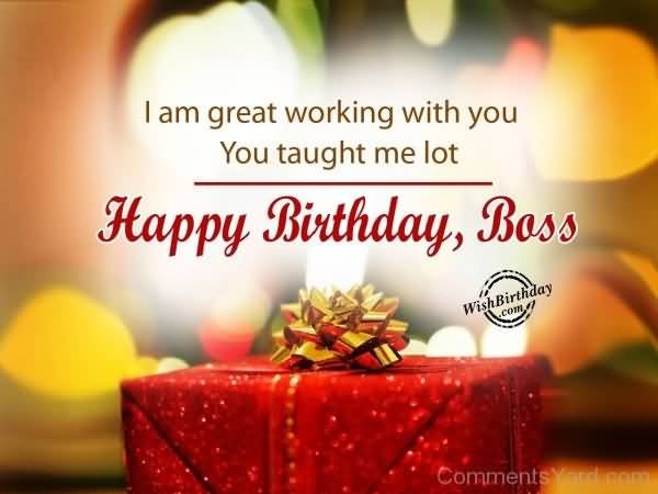 Great Boss Birthday Wishes Image