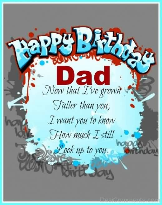 Great Dad Birthday Wishes Quotes Image
