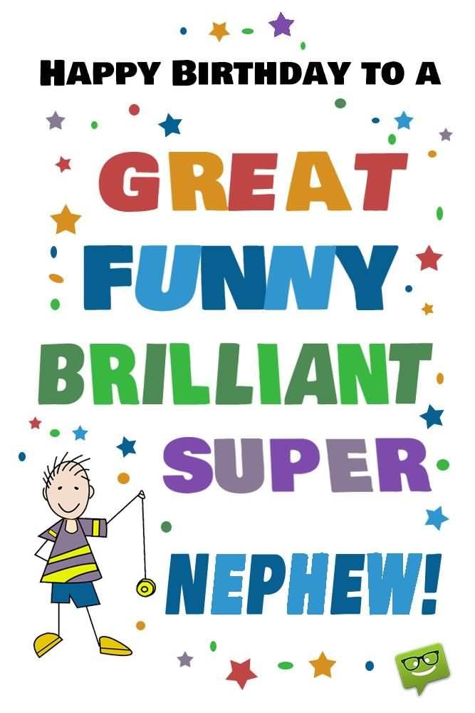 Great Happy Birthday Brilliant Super Nephew Greeting Card