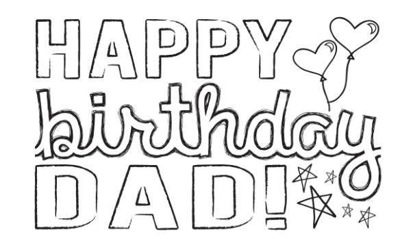 Handmade Greeting Card Happy Birthday Dad