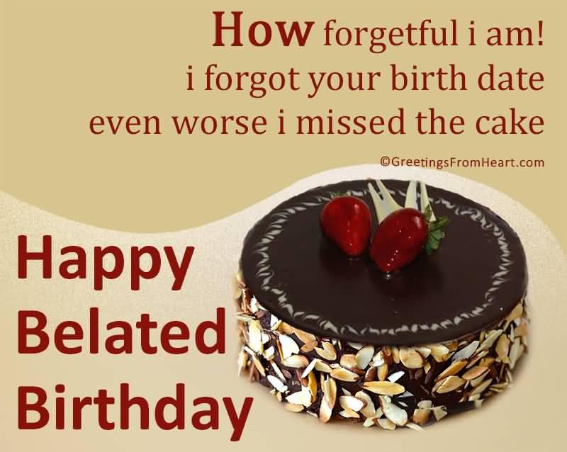 Happy Belated Birthday Quotes Image