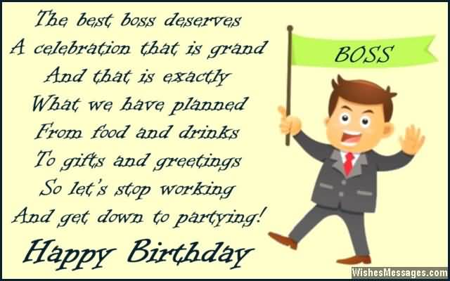 Happy Birthday Best Boss Wishes Quotes Image