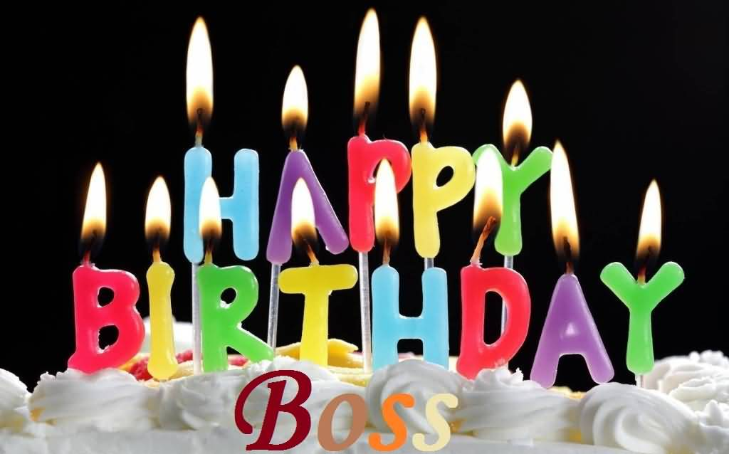 Happy Birthday Candle Wishes For Boss