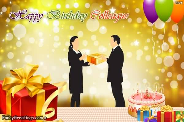 Happy Birthday Colleague Greeting Image