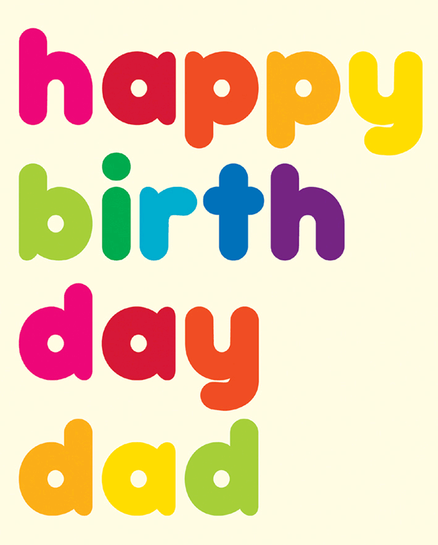 Happy Birthday Dad Greeting Card Image