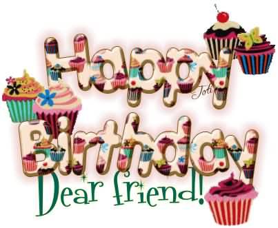 Happy Birthday Dear Friend Colleague Wishes Image