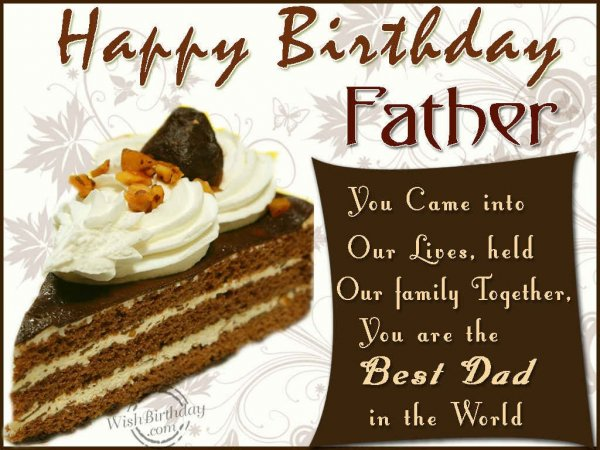 Happy Birthday Father You Are The Best Dad
