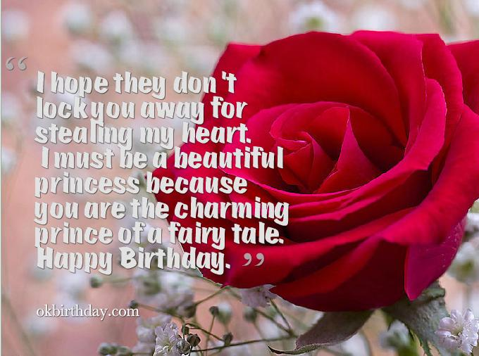 Happy Birthday For The Charming Prince