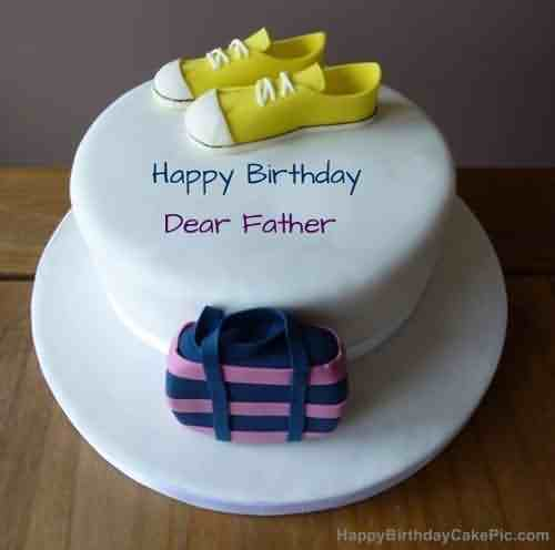 Happy Birthday Greeting Cake Wishes For Father