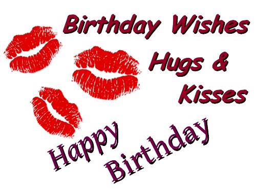 Happy Birthday Hugs Kisess Greeting Card For Love